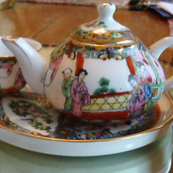 Very miniature tea porcelain set? Chinese , Japanese, or Korean or? - Asian