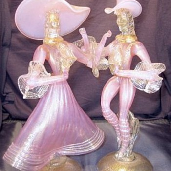 These Murano Dancers are much nicer than my poor pictures - Art Glass