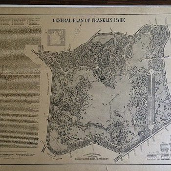 Fred Law Olmsted - Franklin Park General Plans 1896 *Corrected Version RARE - Paper