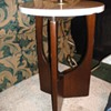 Danish Style lamp table with marble top