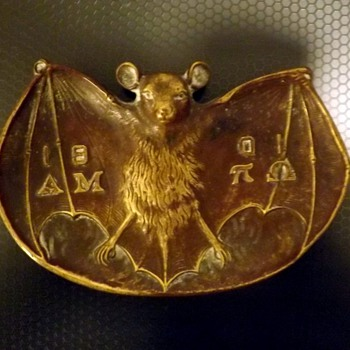 "Bat Bronze Ashtray/Pintray approx 4 x 2.5"" - Tobacciana"
