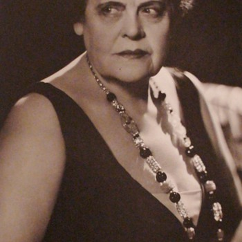 "Marie Dressler ""Dinner At Eight"" Original Photograph By Hurrell Blindstamped"