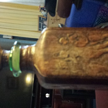 My op-shop find of the year! Mythic leather-covered bottle.