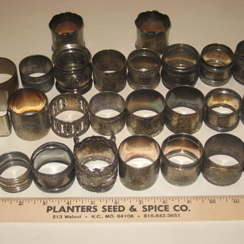 Old Napkin Rings - Silver
