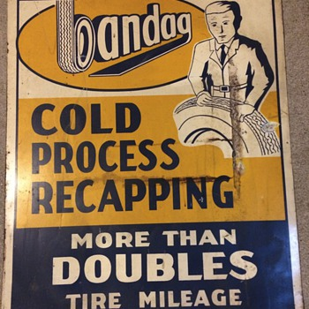 Bandag vintage sign - Signs