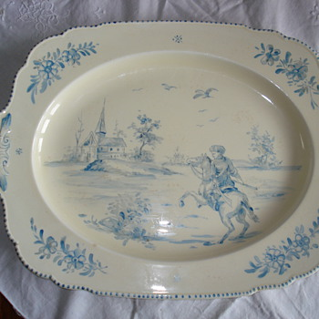 A big CYPA (cerámica y porcelana argentina) platter that was bought as French but was English - China and Dinnerware
