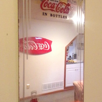 1930's Coca-Cola Reverse Painted Mirrors