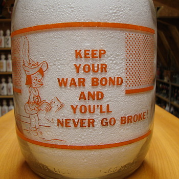 Gallon Bowman Dairy war slogan...