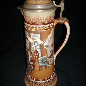 Mettlach Beer Stein
