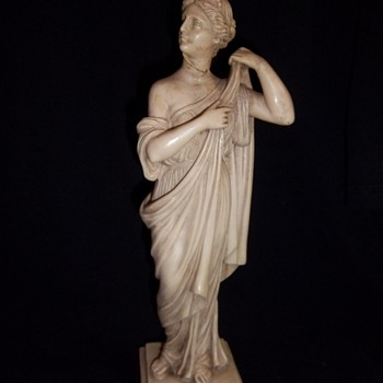 G. Ruggeri statue figure of a Grecian robed woman