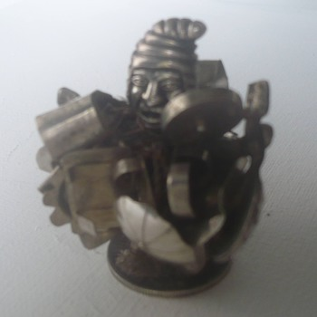Bolivian silver figure (weird) 
