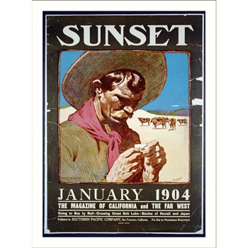 1973 poster Sunset, January 1904 - Posters and Prints