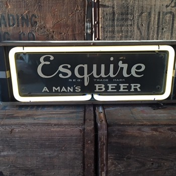 Esquire Beer Neon Sign - Breweriana
