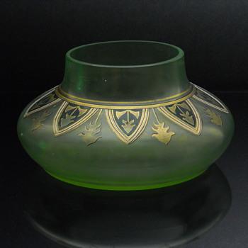 Fritz Hecert enameled vase