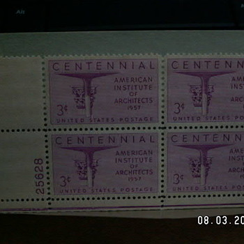 1957 Centennial American Institute of Architects 3¢ Stamp
