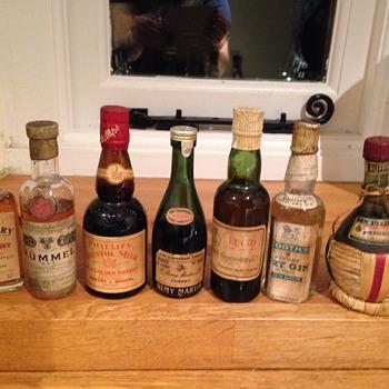 180 vintage miniature bottles
