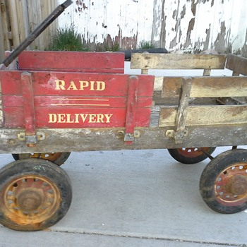 Garton Rapid Delivery Wood Stake Side Coaster Wagon  - Toys