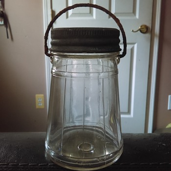 Vintage Ball pickle jar (?) With handle - Bottles