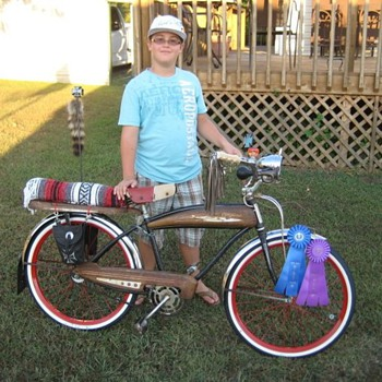 My Son &amp; His favorite Bike &quot;Slo&#039; Poke&quot;...The Rat Bike - Outdoor Sports