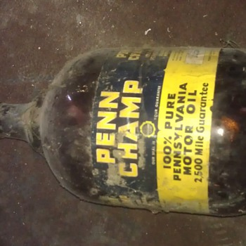 penn champ bottle motor oil - Bottles