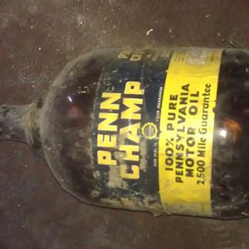 penn champ bottle motor oil - Bottles