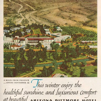 1952 - Arizona Biltmore Hotel Advertisement - Advertising