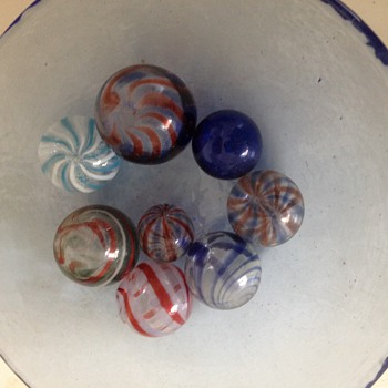 Vintage Hand Blown Glass Marbles