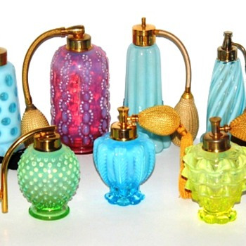 Fenton Glass made for DeVilbiss Atomizers - Circa 1941-47