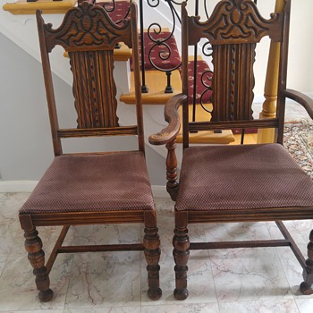 1920 oak chairs mystery