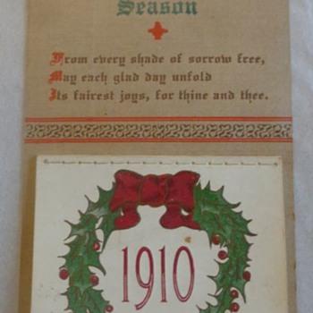 Christmas Postcard Calendar 1910
