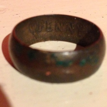 A old one penny coin ring  - Fine Jewelry