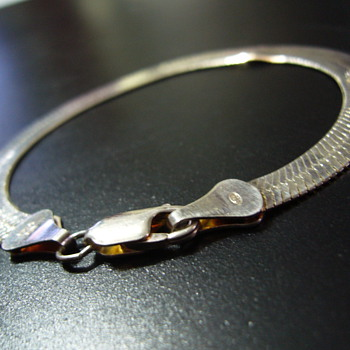 Flat snake bracelet 925 silver - Fine Jewelry