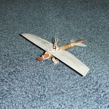 WW1 Trench Art airplane model