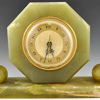 Whitehall Hammond Green Oynx Mantle Clock 1931 - Art Deco