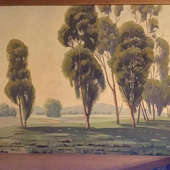 California eucalyptus school painting - Arts and Crafts