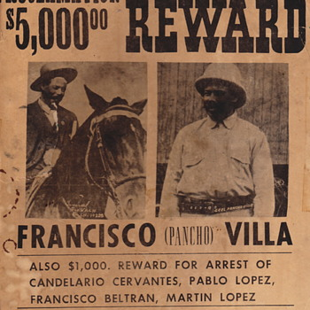 Pancho Villa and henchman poster