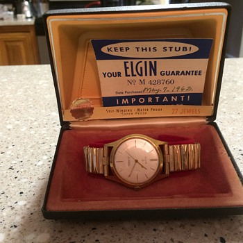 1962 Elgin watch 27 jewels
