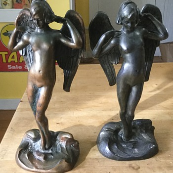 1900's angel bookends