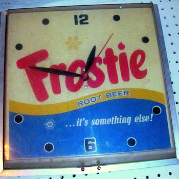Old Frostie's Root Beer!  Wall Clock - Clocks