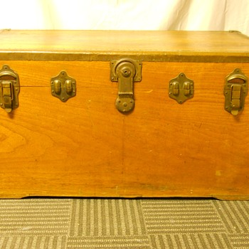 My First Steamer Trunk(Basswood), In The Thrash, oooh I LOVE IT, Circa 20 Century