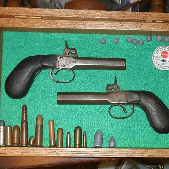 Pair of Percussion Pocket Pistols Spain