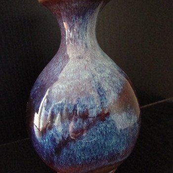 sang de boeuf vase - Art Pottery