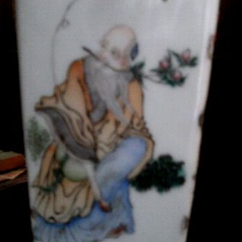 part 2 photos of  Landscape painted vase