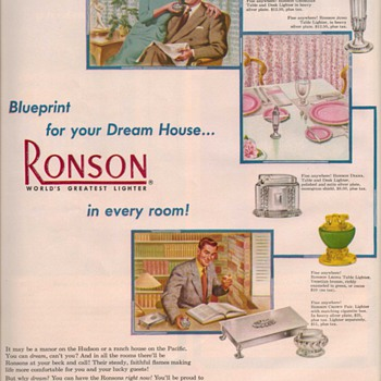 1950 Ronson Lighter Advertisement