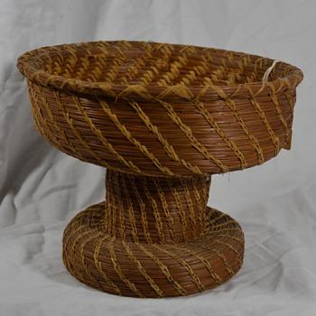 Unusual Shaped Basket that has an Hour Glass Shape