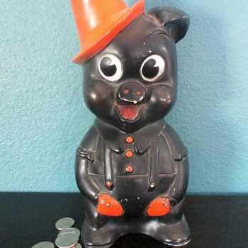 Adorable Hard Plastic Piggy Bank - Identification Help