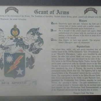 United States Army Rangers Grant of Arms