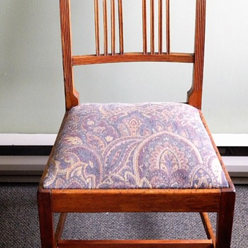 c 1800 Canadian Branderback chair ,Yellow Birch  with inlaid Ebony - Furniture