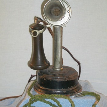 American Electric Co. Fluted Shaft Candlestick
