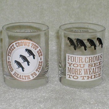 Old Crow Whiskey Glasses - Glassware